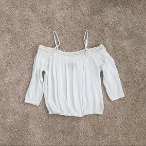 By and By Off The Shoulder Top White